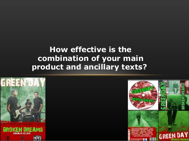 How effective is the combination of your mainproduct and ancillary texts?