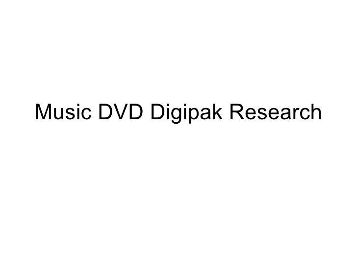 Music DVD Digipak Research