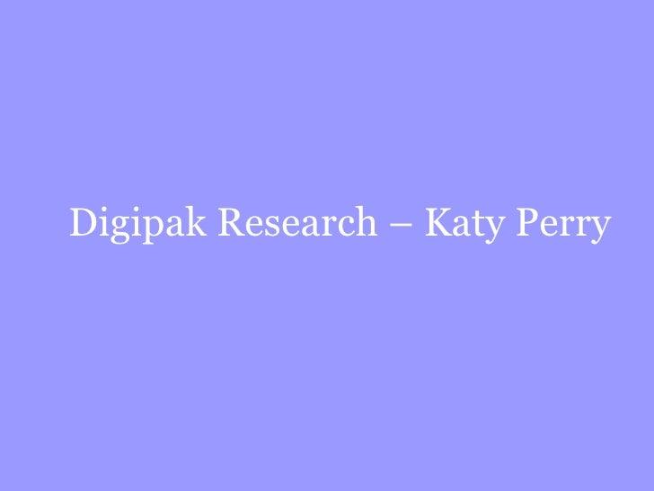 Digipak Research – Katy Perry