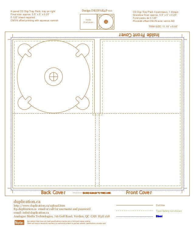 digipak template. Black Bedroom Furniture Sets. Home Design Ideas
