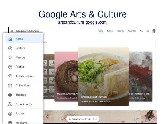 Google Arts & Culture artsandculture.google.com