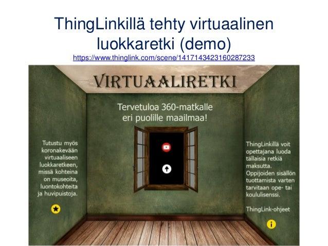 Virtuaaliretken luominen 1. Valitse aloituskuva tai -video ja lisää siihen halutessasi ohjeteksti tai otsikko • Oma kuva, ...