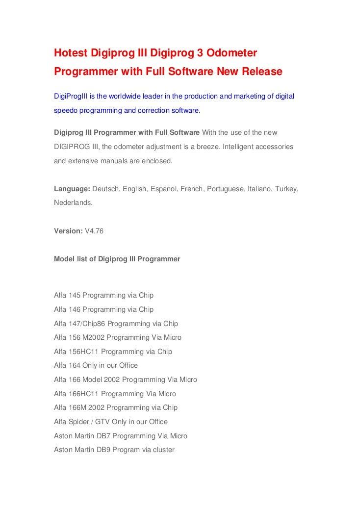 Hotest Digiprog III Digiprog 3 OdometerProgrammer with Full Software New ReleaseDigiProgIII is the worldwide leader in the...