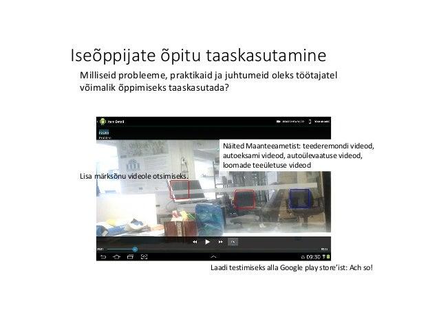 Iseõppijate õpitu taaskasutamine Laadi testimiseks alla Googleplaystore'ist:Achso! Lisamärksõnu videole otsimiseks. M...