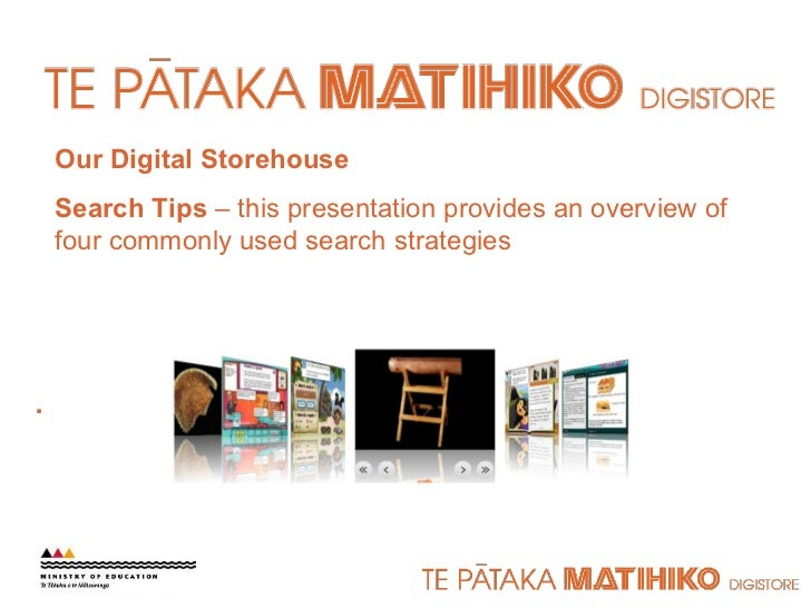 Our Digital Storehouse Search Tips  – this presentation provides an overview of four commonly used search strategies .