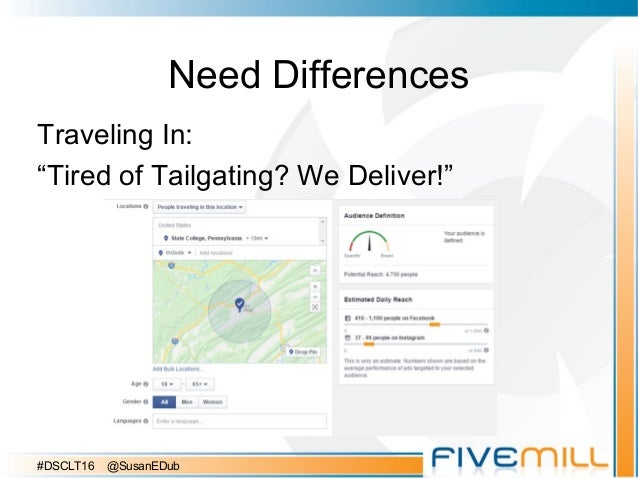 """Need Differences Traveling In: """"Tired of Tailgating? We Deliver!"""" #DSCLT16 @SusanEDub"""