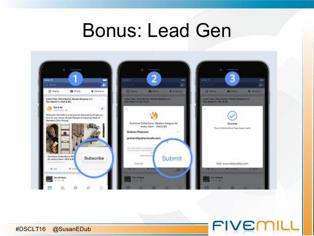 Bonus: Lead Gen #DSCLT16 @SusanEDub