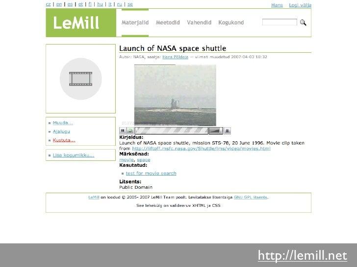 Autoriõigused         Kõik LeMill keskkonnas loodud        materjalid on avaldatud Creative        Commons Attribution-Sha...