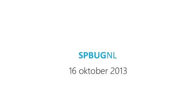 16 oktober 2013
