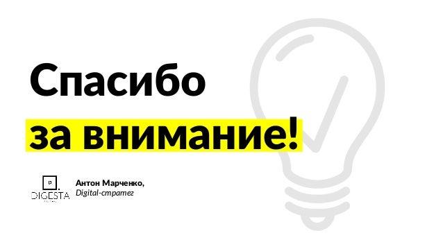 Спасибо за внимание! Антон Марченко, Digital-стратег