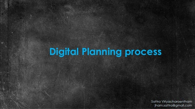 Digital Planning process