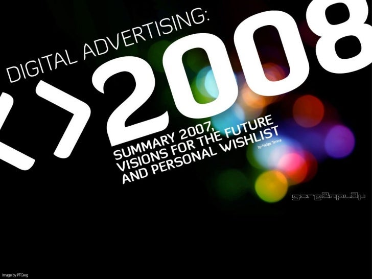 Digital Advertising Before and After 2008 Slide 1