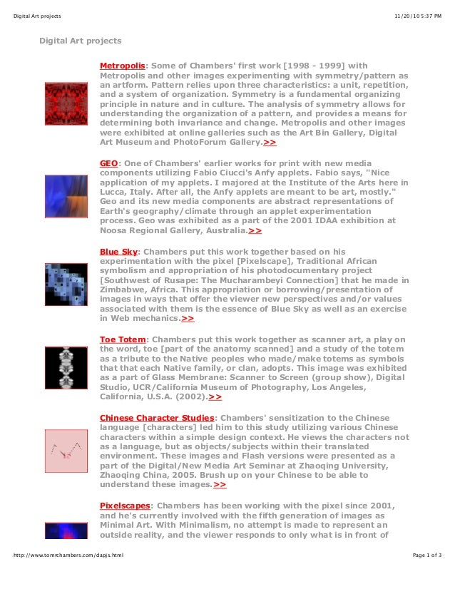 11/20/10 5:37 PMDigital Art projects Page 1 of 3http://www.tomrchambers.com/dapjs.html Digital Art projects Metropolis: So...