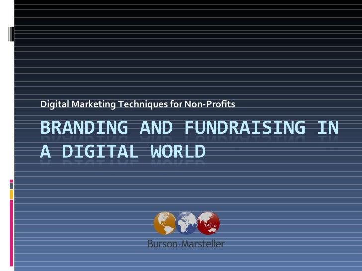Digital Marketing Techniques for Non-Profits
