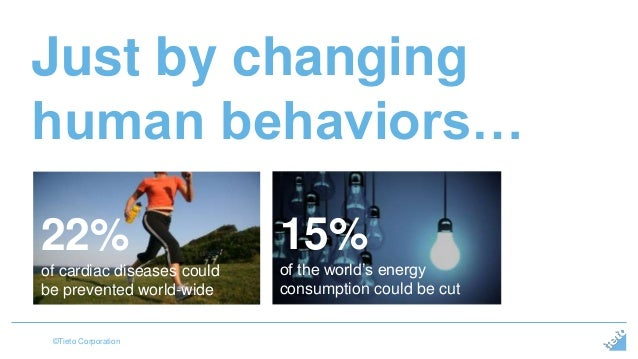 Just by changing  human behaviors…  22%  of cardiac diseases could  be prevented world-wide  ©Tieto Corporation  15%  of t...
