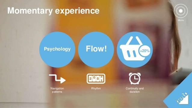 Momentary experience  ©Tieto Corporation  Psychology Flow! +20%  Rhythm Continuity and  duration  Navigation  patterns  Mi...