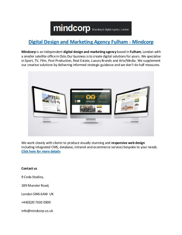 Digital Design and Marketing Agency Fulham - Mindcorp Mindcorp is an independent digital design and marketing agency based...