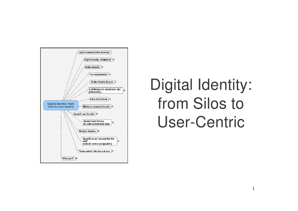 Digital Identity:  from Silos to  User-Centric                        1