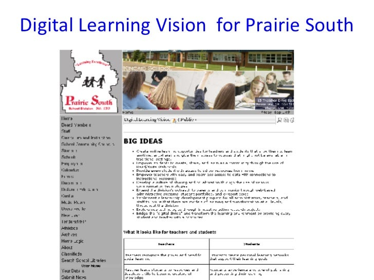 Digital Learning Vision  for Prairie South