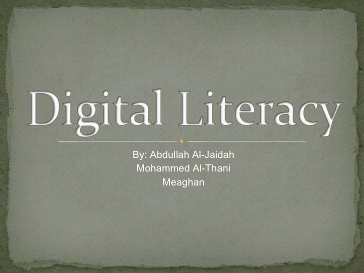 By: Abdullah Al-Jaidah Mohammed Al-Thani Meaghan