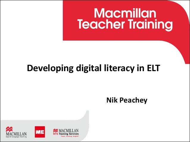 TÍTULO Subtítulo Día Mes Año ! Developing  digital  literacy  in  ELT   ! !                   Nik  ...