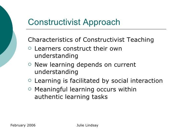 characteristics of constructivist approach pdf