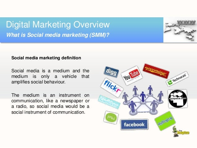 Digital Marketing Overview What is Social media marketing (SMM)?