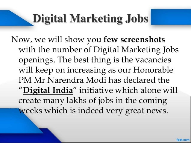 Online Digital Marketing Jobs In Bangalore
