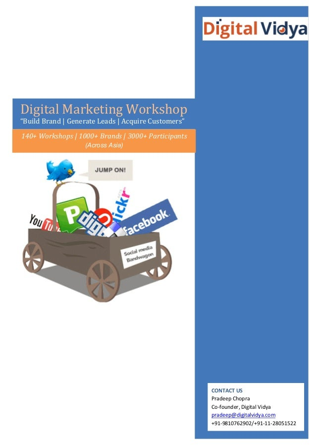 "Digital  Marketing  Workshop   ""Build  Brand  |  Generate  Leads  | ..."