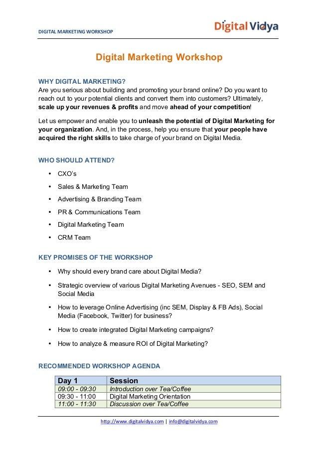 Digital Marketing Workshop for Corporates Slide 2