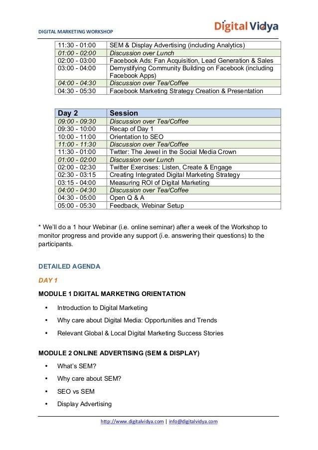 Digital Marketing Workshop for Corporates Slide 3