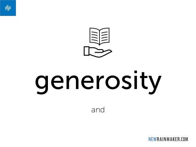 generosity and