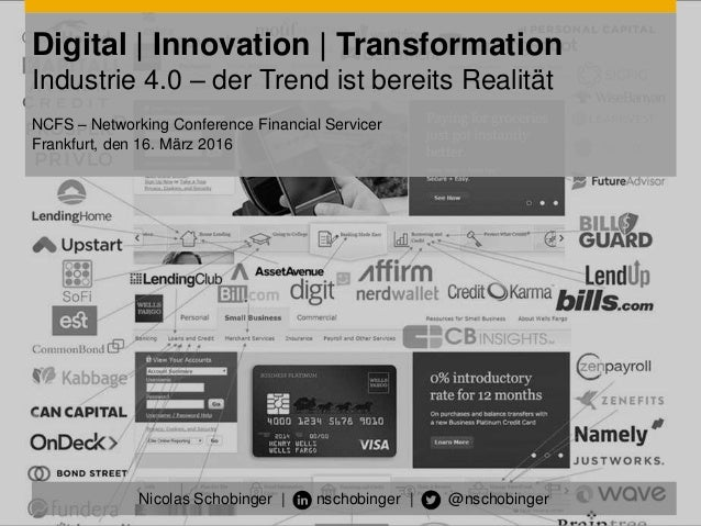 Digital | Innovation | Transformation Industrie 4.0 – der Trend ist bereits Realität NCFS – Networking Conference Financia...