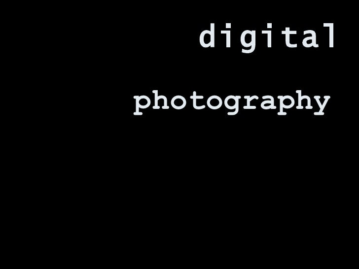 photography digital