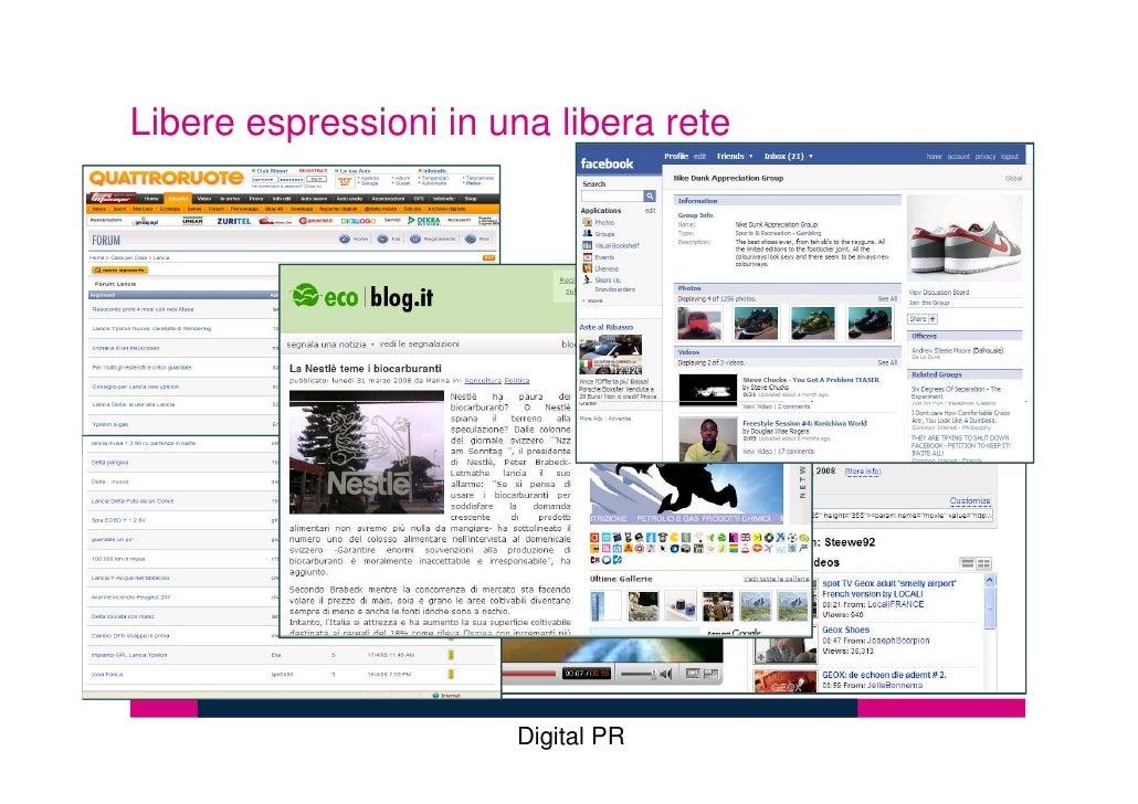 Libere espressioni in una libera rete                            Digital PR