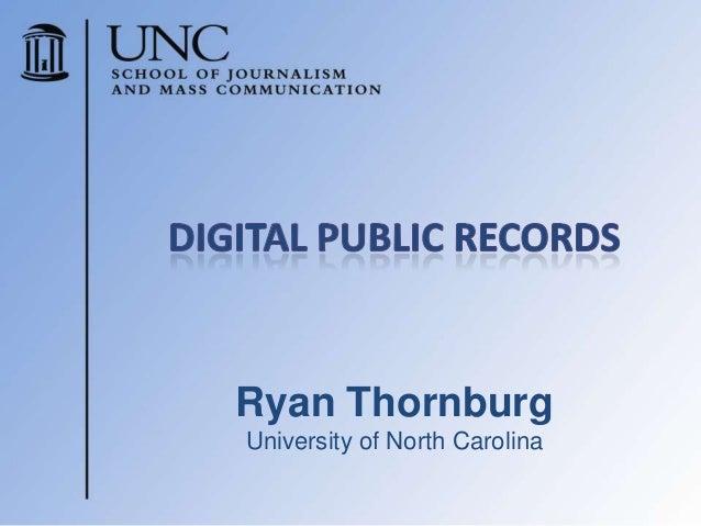 Ryan ThornburgUniversity of North Carolina