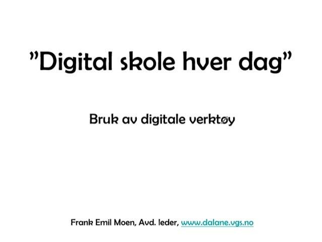 Digital skole hver dag