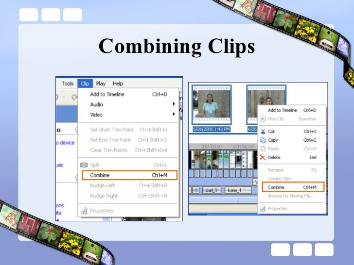 Combining Clips
