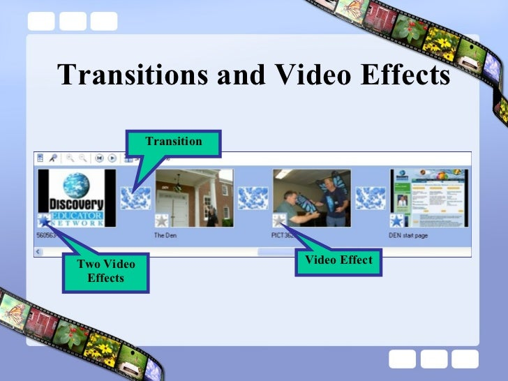 Transitions and Video Effects Transition Video Effect Two Video Effects