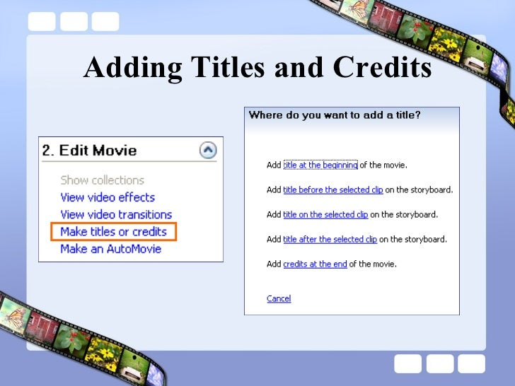Adding Titles and Credits