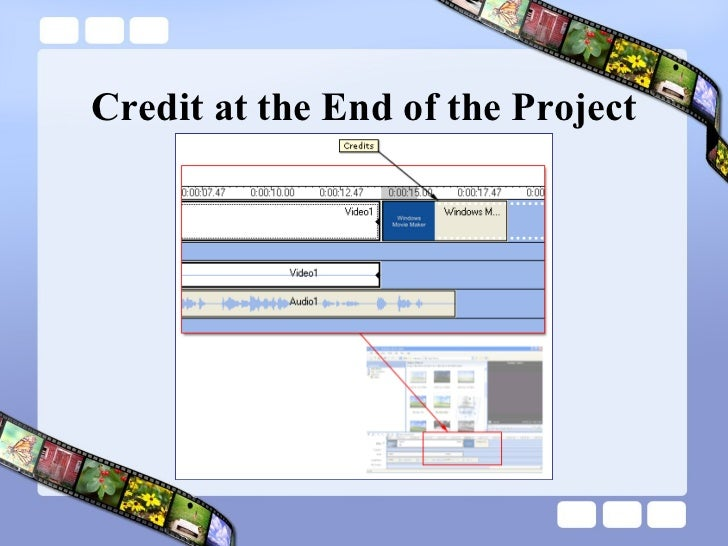 Credit at the End of the Project