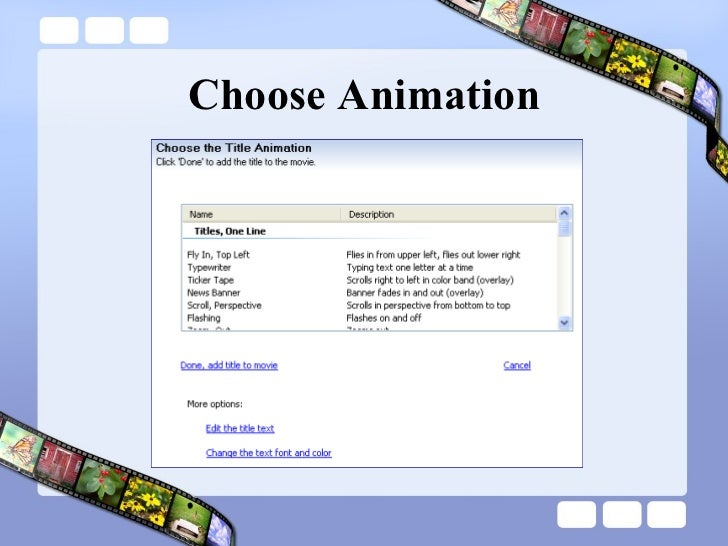 Choose Animation