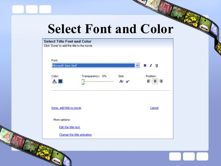 Select Font and Color