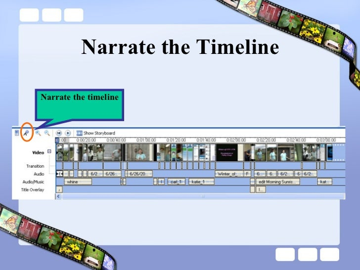 Narrate the Timeline Narrate the timeline