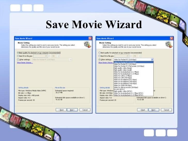 Save Movie Wizard