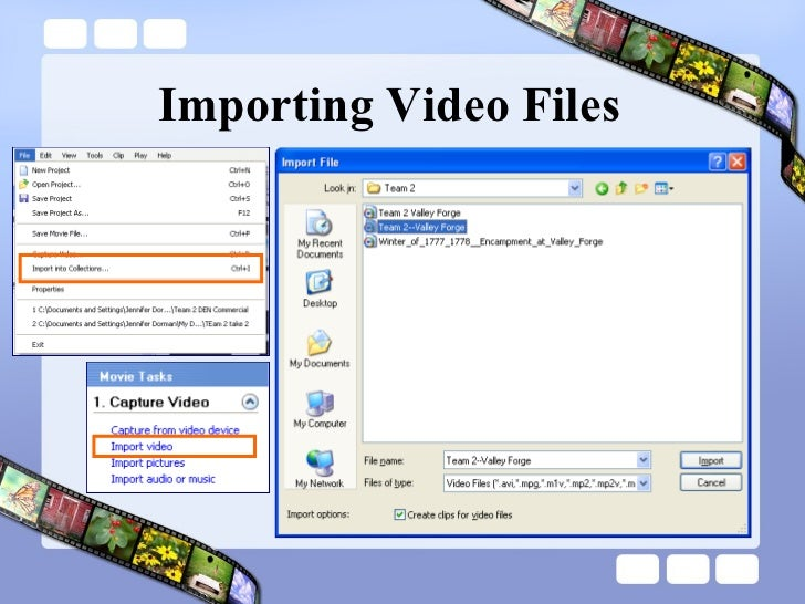 Importing Video Files