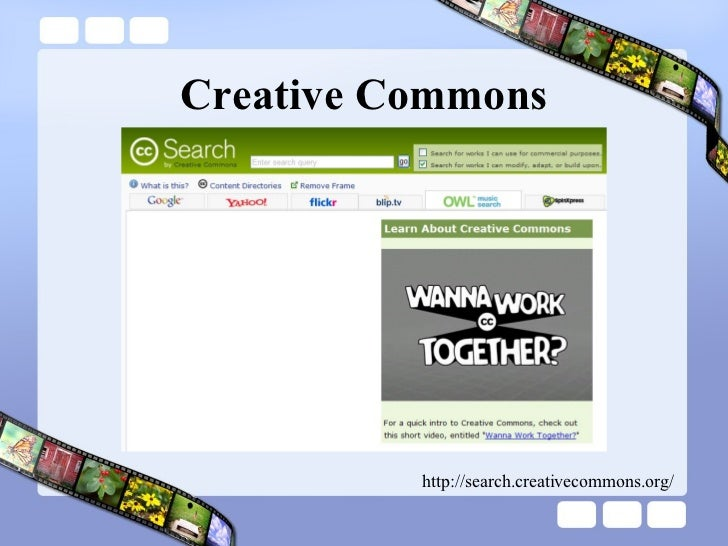 Creative Commons http://search.creativecommons.org/