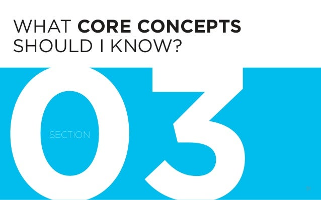 DIGITAL STRATEGY 101, FIRST EDITION BY @BUD_CADDELL 31 WHAT CORE CONCEPTS SHOULD I KNOW? SECTION