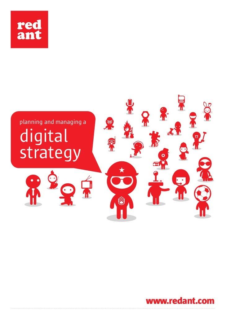 planning and managing adigitalstrategy                          www.redant.com