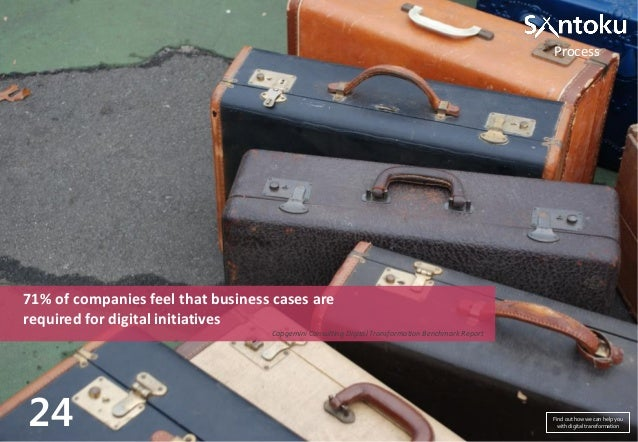 Process  71% of companies feel that business cases are required for digital initiatives Capgemini Consulting Digital Trans...